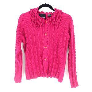 Michael Simon Cardigan Sweater Womens L Pink